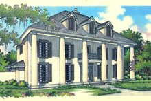 Colonial Exterior - Front Elevation Plan #45-167