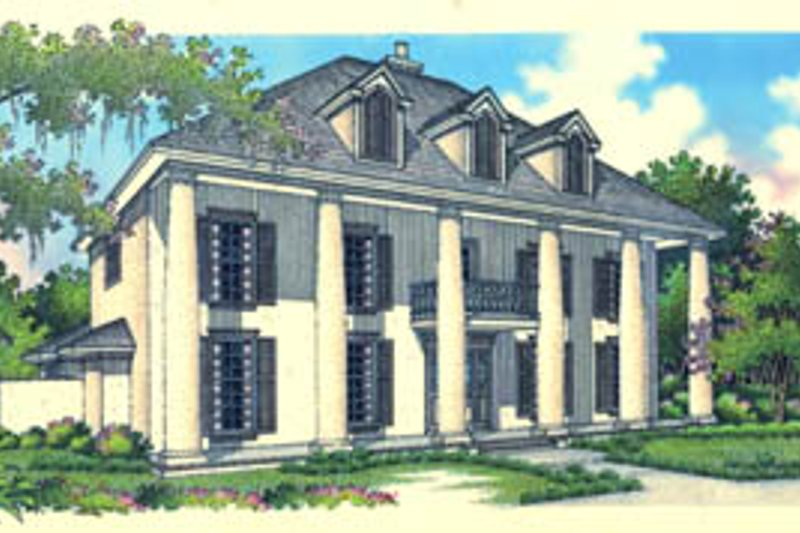 Home Plan - Colonial Exterior - Front Elevation Plan #45-167