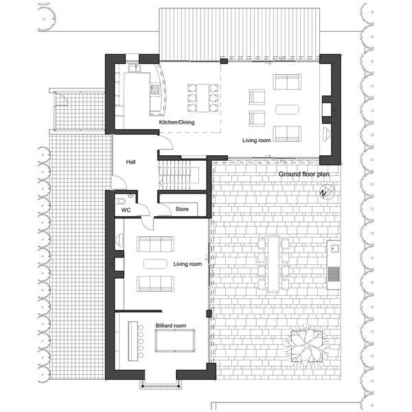 European Floor Plan - Main Floor Plan Plan #520-8