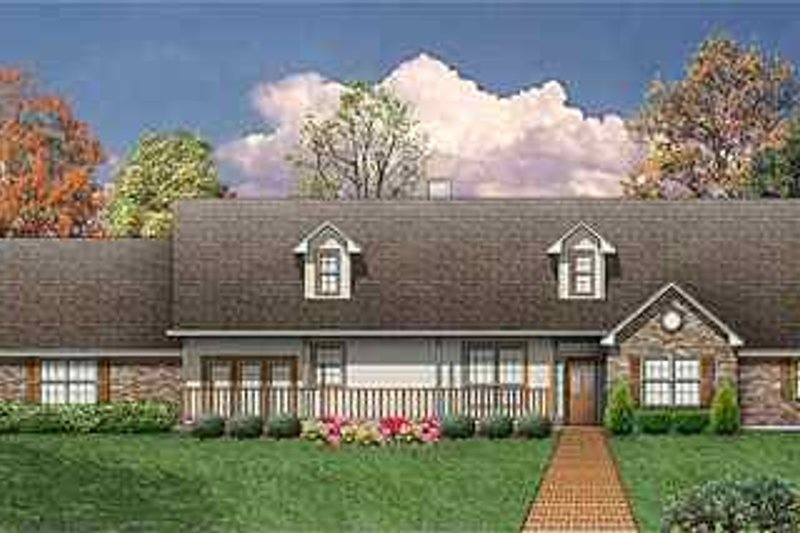 Country Exterior - Front Elevation Plan #84-149