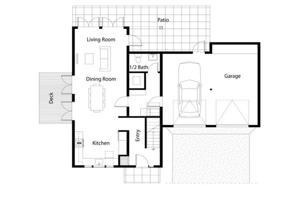 Architectural House Design - Traditional Floor Plan - Main Floor Plan #497-38