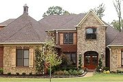 European Style House Plan - 4 Beds 4 Baths 4299 Sq/Ft Plan #81-1327 Exterior - Front Elevation