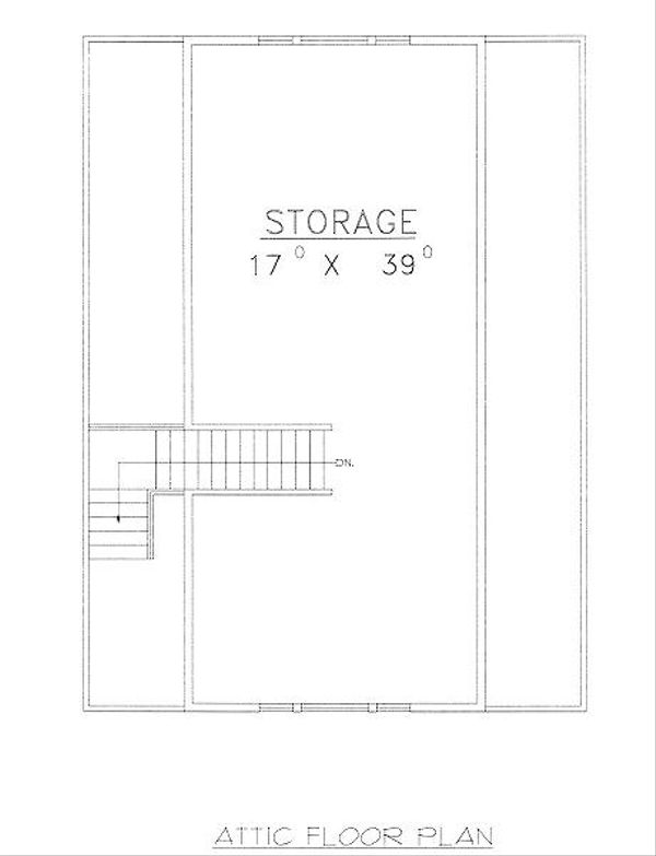 Traditional Floor Plan - Upper Floor Plan Plan #117-551