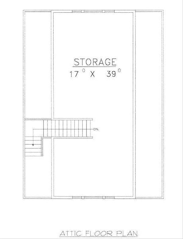 Traditional Floor Plan - Upper Floor Plan Plan #117-551