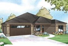Country Exterior - Front Elevation Plan #124-926