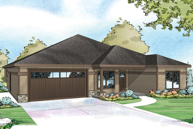 Home Plan - Country Exterior - Front Elevation Plan #124-926