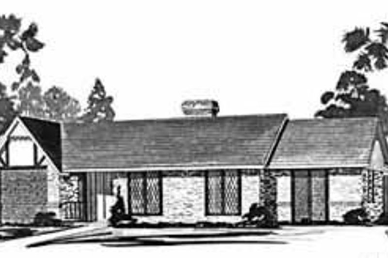 Ranch Exterior - Front Elevation Plan #36-375