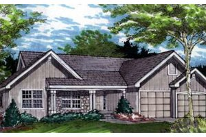 Traditional Exterior - Front Elevation Plan #320-372