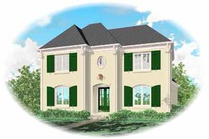 Southern Exterior - Front Elevation Plan #81-332