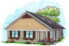 Dream House Plan - Ranch Exterior - Rear Elevation Plan #70-1019