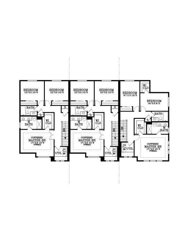 Craftsman Floor Plan - Upper Floor Plan Plan #53-534
