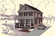 Home Plan - Traditional Exterior - Front Elevation Plan #79-272