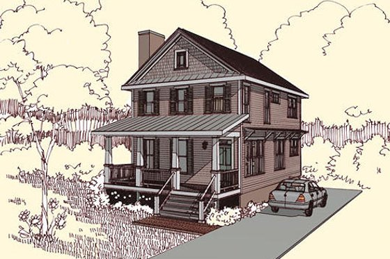 Traditional Exterior - Front Elevation Plan #79-272