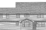 Traditional Style House Plan - 4 Beds 2.5 Baths 2493 Sq/Ft Plan #70-399 Exterior - Rear Elevation