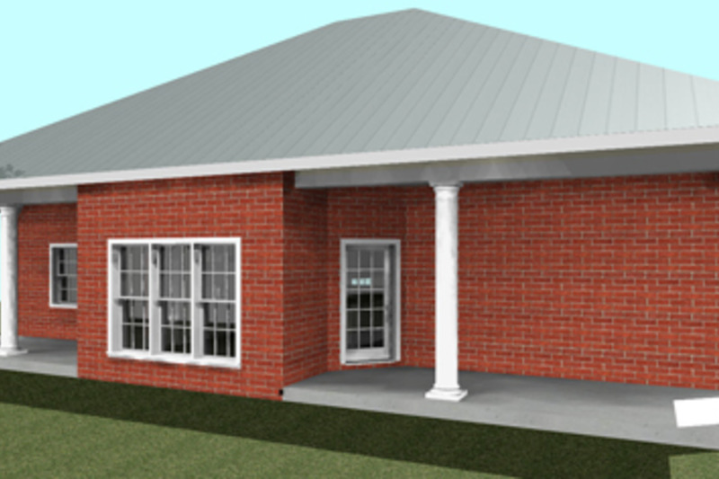 Southern Exterior - Rear Elevation Plan #44-161 - Houseplans.com