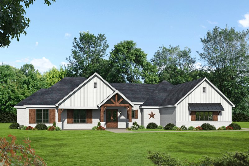Country Style House Plan - 3 Beds 3 Baths 2385 Sq/Ft Plan #932-65 Exterior - Front Elevation
