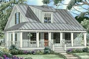 Cottage Style House Plan - 3 Beds 2 Baths 1397 Sq/Ft Plan #17-2015 Exterior - Front Elevation