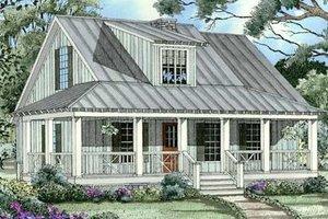 Cottage Exterior - Front Elevation Plan #17-2015