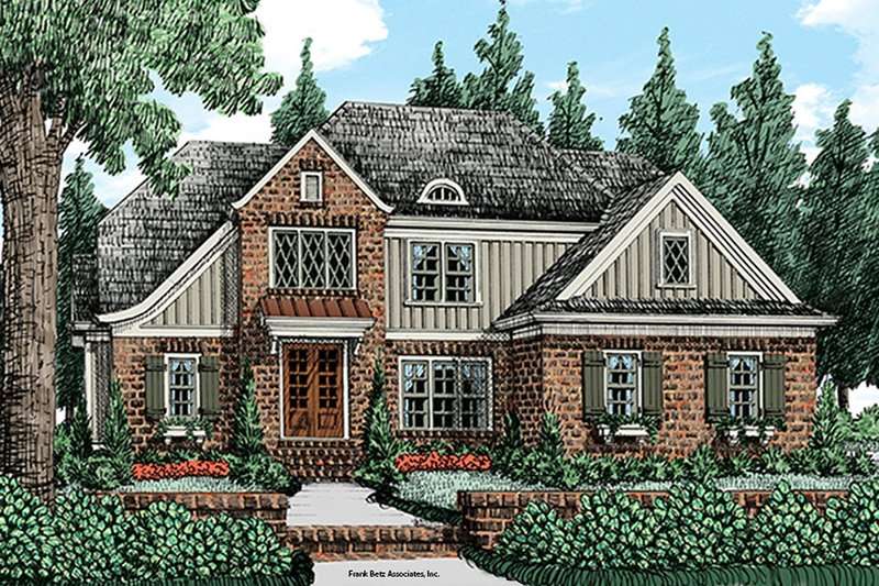 Cottage Exterior - Front Elevation Plan #927-977