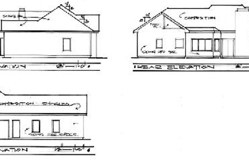 European Exterior - Rear Elevation Plan #56-142 - Houseplans.com