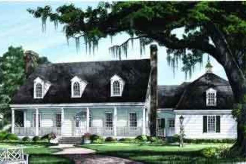 Country Exterior - Front Elevation Plan #137-239 - Houseplans.com