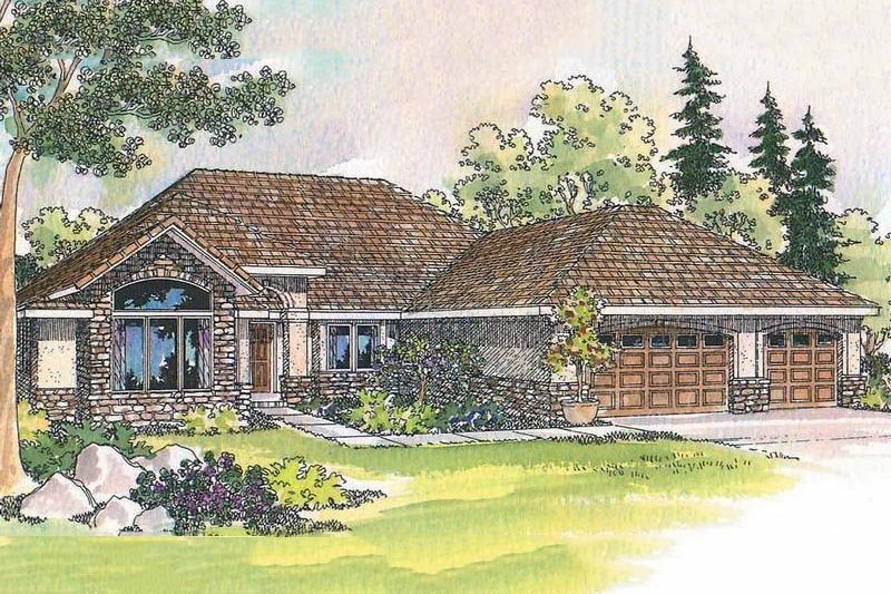 Traditional Exterior - Front Elevation Plan #124-450 - Houseplans.com