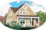 Country Style House Plan - 3 Beds 2.5 Baths 2770 Sq/Ft Plan #81-654 Exterior - Front Elevation