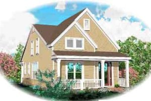 Country Exterior - Front Elevation Plan #81-654