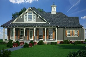 Cottage Exterior - Front Elevation Plan #45-582