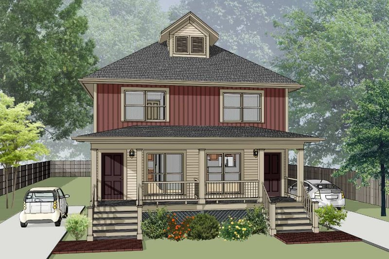 Southern Style House Plan - 4 Beds 2.5 Baths 1736 Sq/Ft Plan #79-276 Exterior - Front Elevation