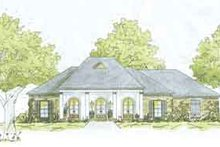 European Exterior - Front Elevation Plan #36-438