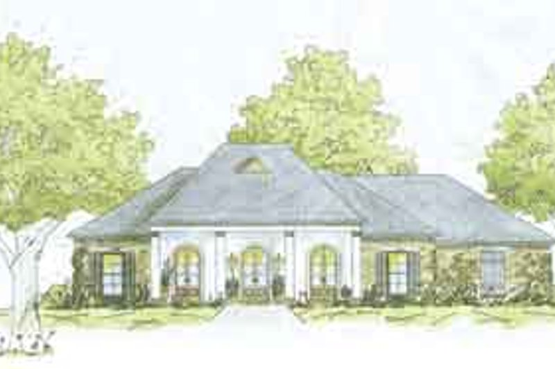 Dream House Plan - European Exterior - Front Elevation Plan #36-438
