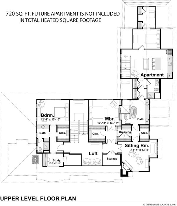 Craftsman Floor Plan - Upper Floor Plan Plan #928-237