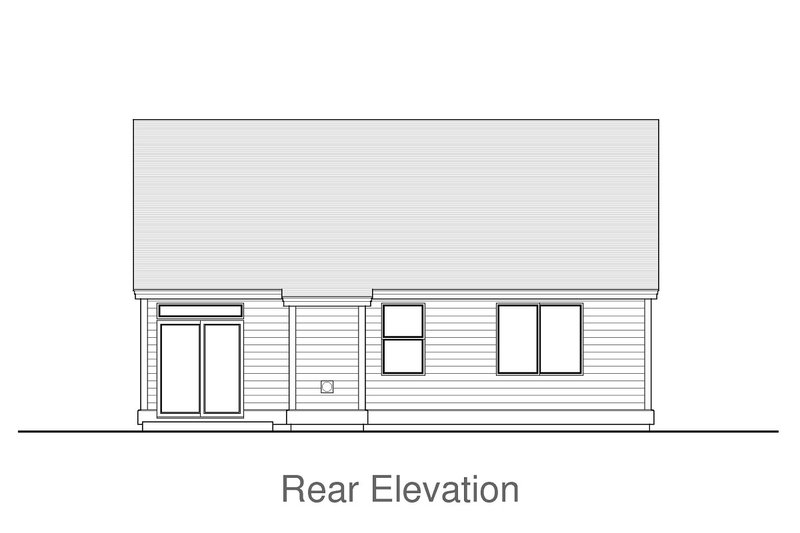 Home Plan - Cottage Exterior - Rear Elevation Plan #53-623