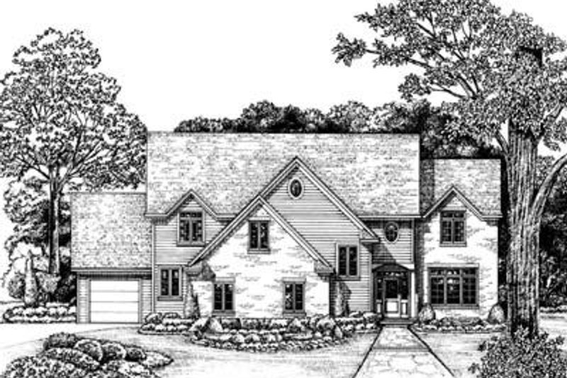 Traditional Exterior - Front Elevation Plan #20-989 - Houseplans.com