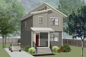Architectural House Design - Modern Exterior - Front Elevation Plan #79-291