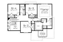 Traditional Floor Plan - Upper Floor Plan Plan #20-2076
