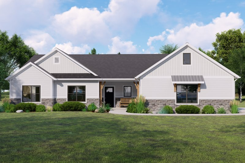 House Design - Farmhouse Exterior - Front Elevation Plan #1064-126