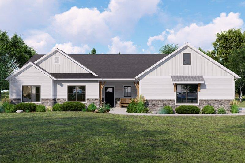 Home Plan - Farmhouse Exterior - Front Elevation Plan #1064-126