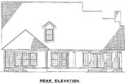 Country Style House Plan - 4 Beds 2.5 Baths 2918 Sq/Ft Plan #17-634 Exterior - Rear Elevation