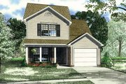 Country Style House Plan - 3 Beds 2.5 Baths 1251 Sq/Ft Plan #17-236 Exterior - Front Elevation