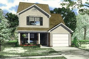 Country Exterior - Front Elevation Plan #17-236