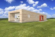 Modern Style House Plan - 2 Beds 2 Baths 1575 Sq/Ft Plan #497-25 Exterior - Front Elevation