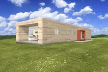 Modern Exterior - Front Elevation Plan #497-25