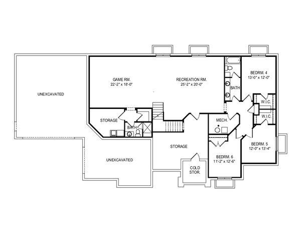 Home Plan - Modern Floor Plan - Lower Floor Plan #920-121