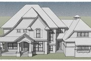 House Plan - 4 Beds 3.5 Baths 3883 Sq/Ft Plan #51-544 Exterior - Other Elevation