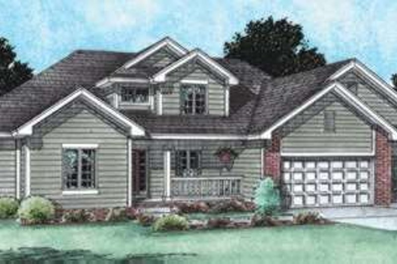 Traditional Exterior - Front Elevation Plan #20-1773