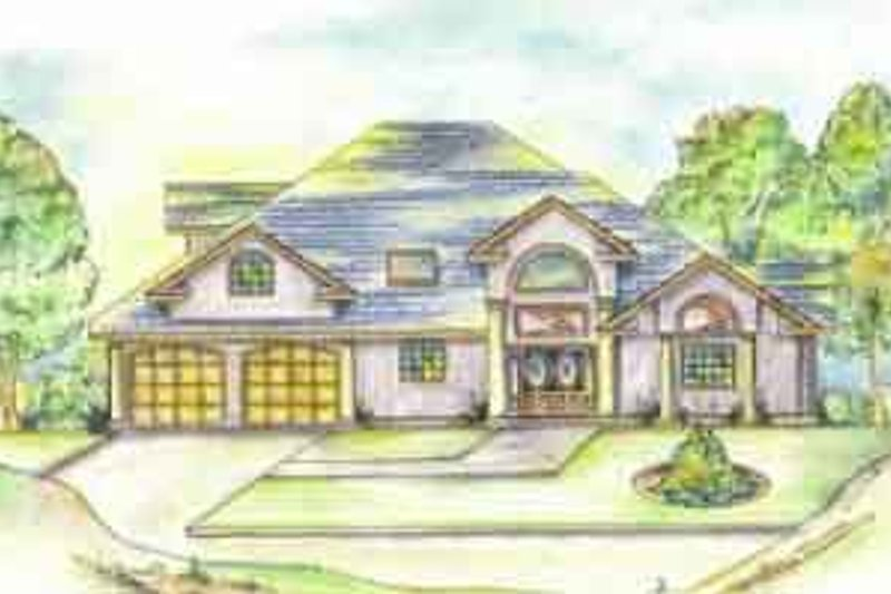 Traditional Style House Plan - 8 Beds 6 Baths 6271 Sq/Ft Plan #117-219 Exterior - Front Elevation