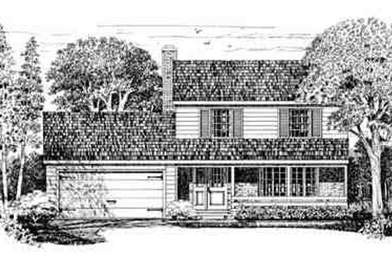 Traditional Exterior - Front Elevation Plan #72-200 - Houseplans.com