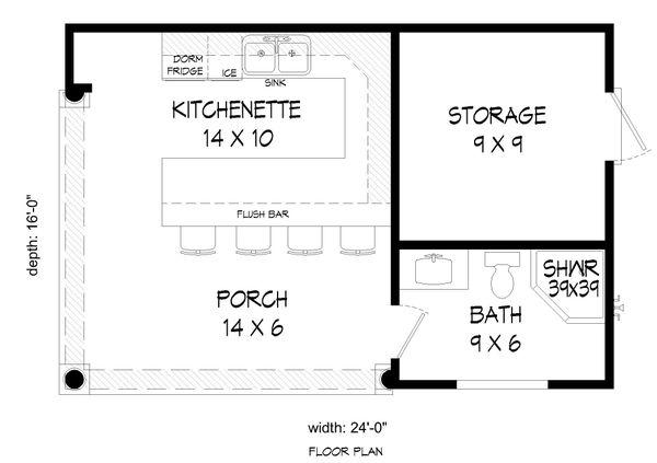 Traditional Floor Plan - Main Floor Plan #932-315